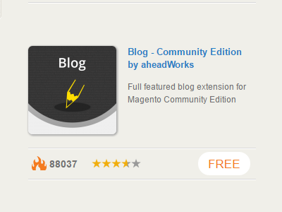 modulo blog community edition by aheadworks