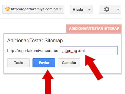 enviando o sitemap