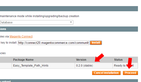 proceed to install magento connect manager