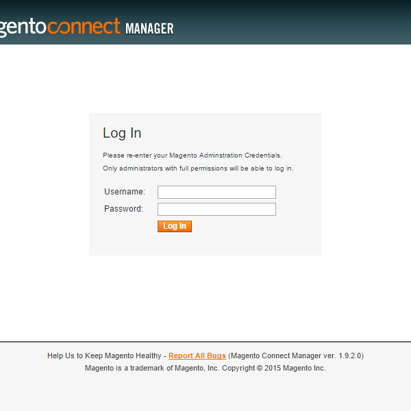 magento connect manager print