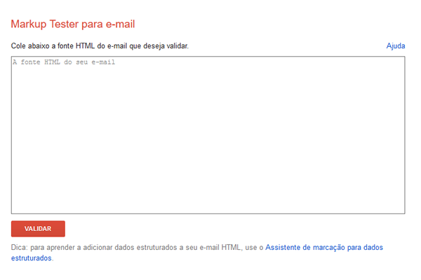 Email Markup e Markup Tester