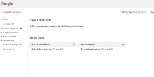 dashboard google search console
