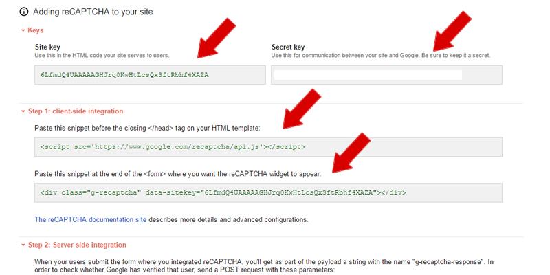 Configuring Google Recaptcha on your Site, simplify your captcha