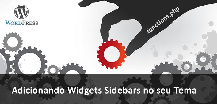 Como adicionar um sidebar widgets em um tema WordPress