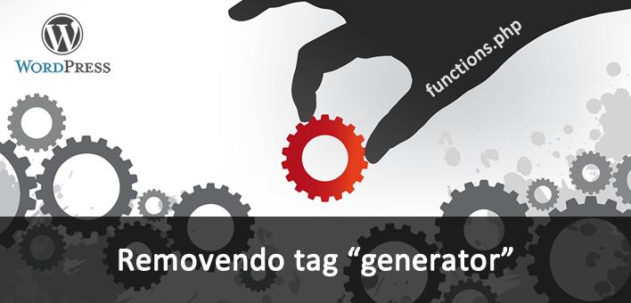 Remover meta tag Generator com a versão do WordPress