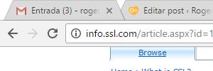 site que não precisa de SSL