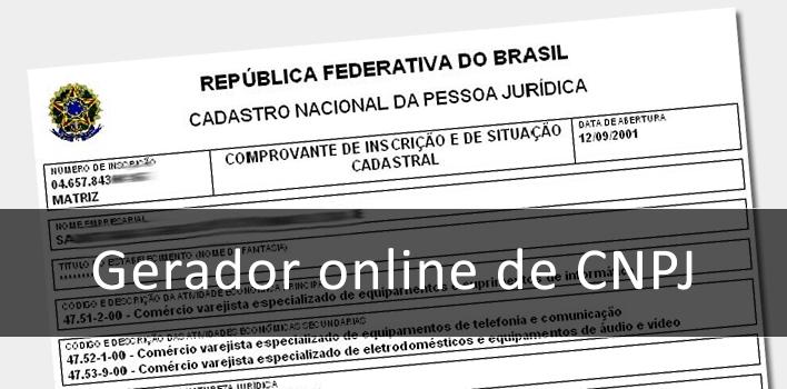 ferramenta online gerador de cnpj