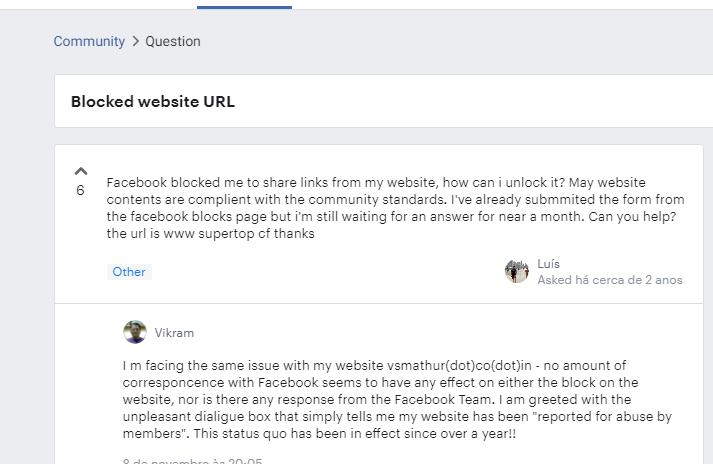 comunidade facebook