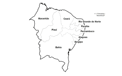 ceps da região nordeste