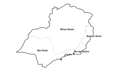 ceps da região sudeste