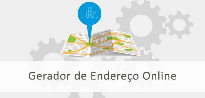 Gerador de Endereço online, rua, bairro, cidade, estado