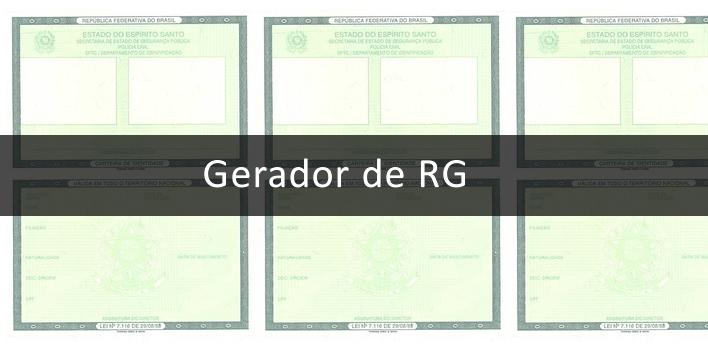 gerador de RG online