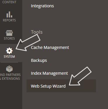 acesse system / web setup wizard