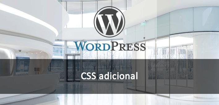 CSS adicional no tema pelo painel administrativo – WordPress