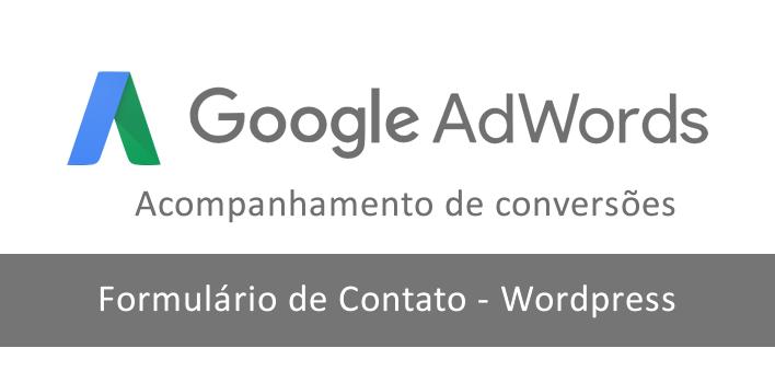 script de conversão do adwords no formulário de contato