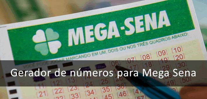 Gerador de números para Mega Sena