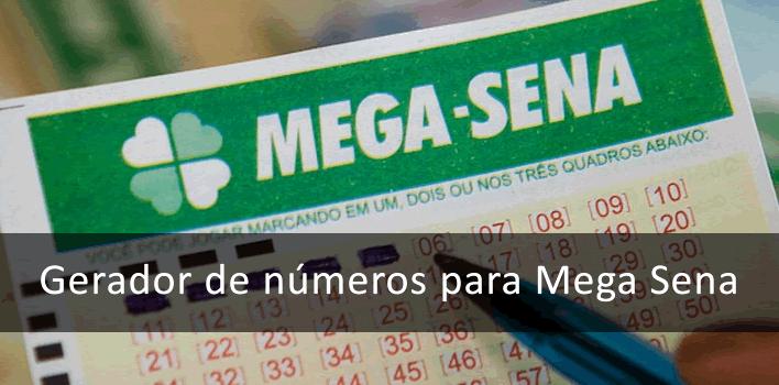 ferramenta Gerador de números para Mega Sena
