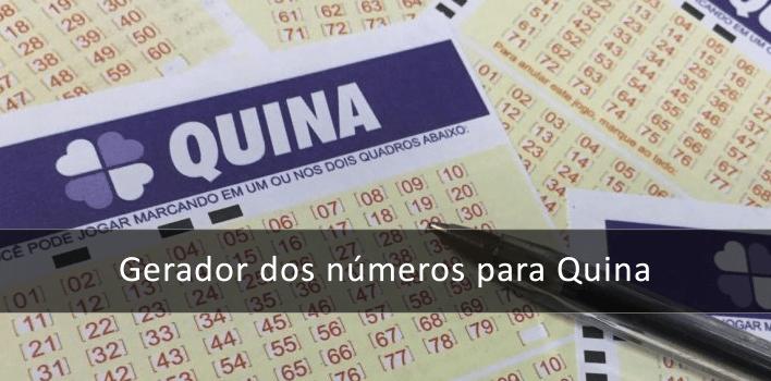 Gerador de números para Quina - Gerador de combinações
