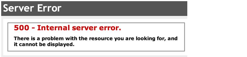 outro exemplo internal server error