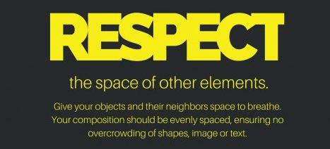 Respeite o espaço dos elementos